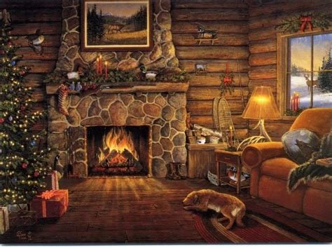 free fireplace christmas photos free fireplace wallpapers wallpaper cave