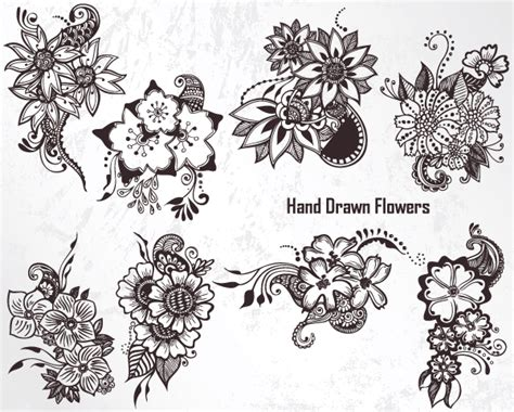 qbrush pattern color vector floral brushes for photoshop