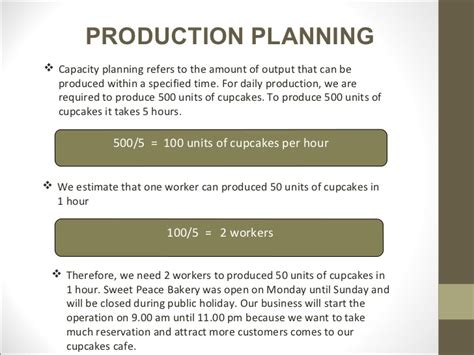 production business plan template sle business plan presentation
