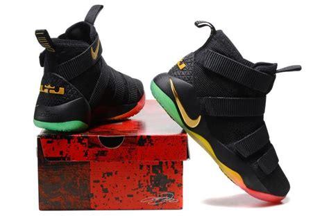 Lebron Soldier 11 Black cheap nike lebron soldier 11 black gold rainbow basketball shoes for sale cheap jordans 2017
