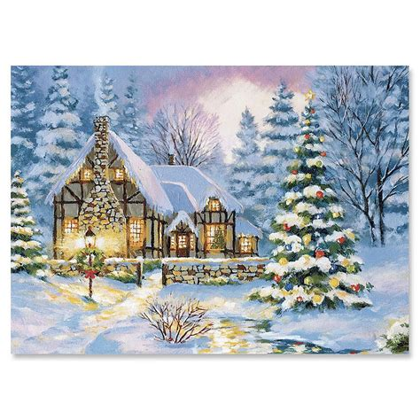 winter cottage winter cottage cards set of 18 current catalog