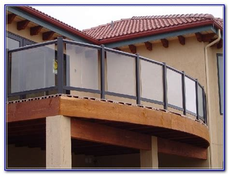 Glass Patio Railing Systems by Glass Deck Railing Systems Rona Decks Home Decorating