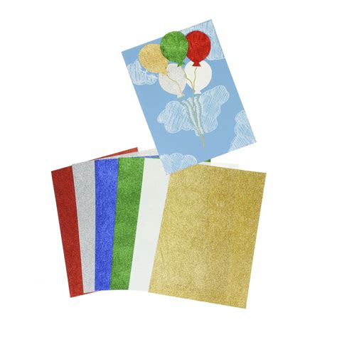 Glitter Paper For Card - a4 glitter paper 12 pack card paper from crafty