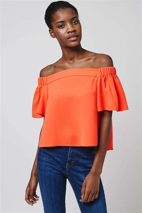 best to structured bardot top topshop