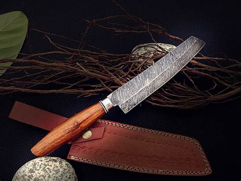 wood handle kitchen knives 2018 13 quot damascus chef knife wood handle