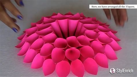 diy craft home decor diy room decor with amazing dahlia flower diy crafts