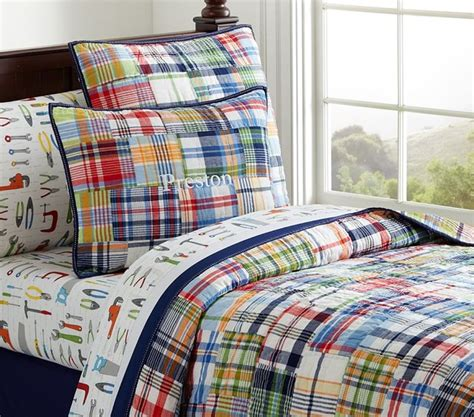 Pottery Barn Madras Crib Bedding Madras Quilted Bedding Bedding San Francisco By Pottery Barn