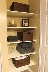 open bathroom shelves km decor diy organizing open shelving in a bathroom