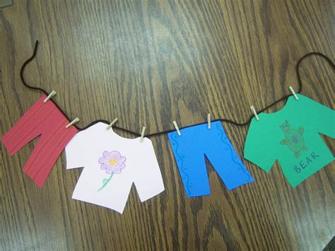 clothes craft for clothes storytime