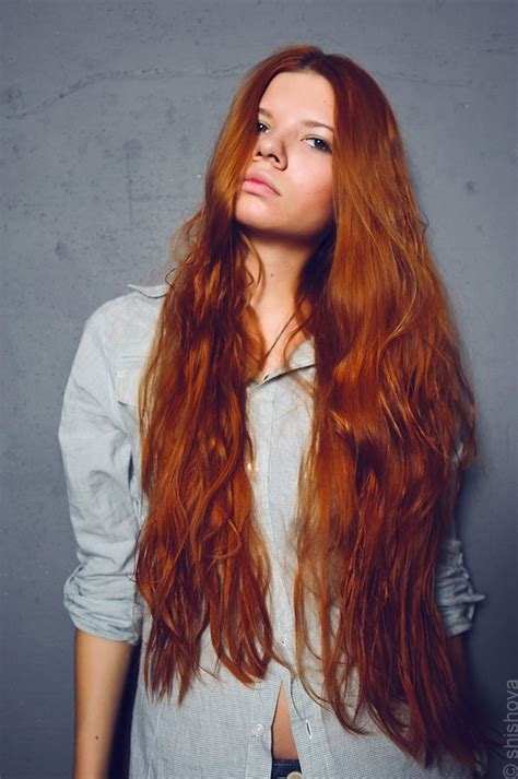 long red hair brown eyes redheads pinterest