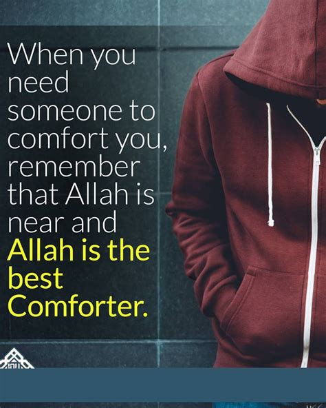 comforting messages for a broken heart comfort is only from allah quote islam