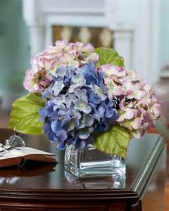 Topiary Tree With Lights - buy hydrangea silk flower accent at officescapesdirect