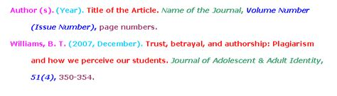 apa format journal article citation module 6 searchpath moorpark college library tutorial