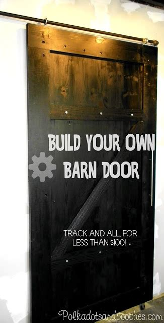 how to make barn door track learn how to build a sliding barn door and track polkadotsandpooches home decoz