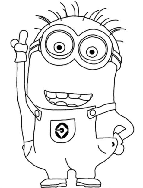 Free Coloring Pages Of Minions Colouring Pages Free