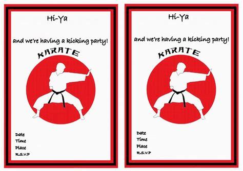 printable karate invitation karate birthday invitations birthday printable