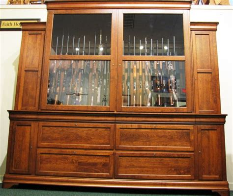 Handmade Gun Cabinet - custom cherry gun cabinet 46 gun cabinet gun