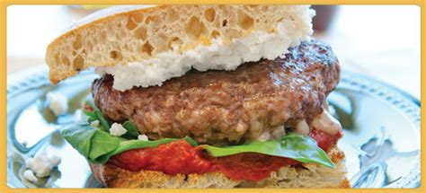 salsiccia stuffed burger recipe the companion