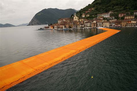 floating piers floating piers by christo and jeanne claude readies for