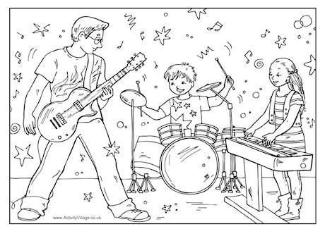 boy band coloring page family band colouring page