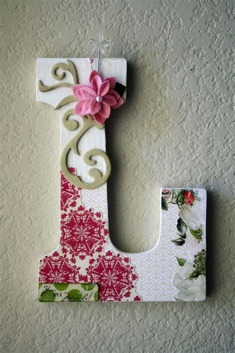 Letter Boutique Custom Boutique Large Nursery Wall Or Table Monogram Letters 30 00 Via Etsy For The Home
