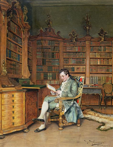 painting in the books the bibliophile painting by johann hamza