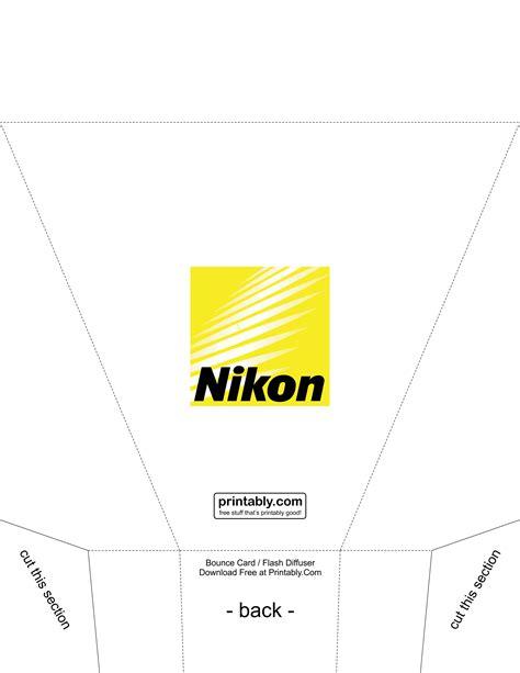 flash bounce card template bounce card flash diffuser for nikon printably
