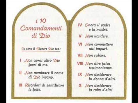 tavole dei 10 comandamenti i dieci comandamenti diciannovesima parte