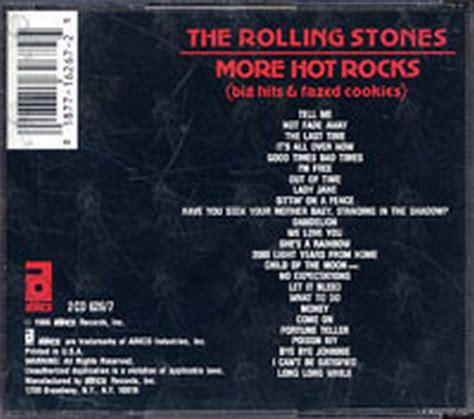 Cd The Rolling Stones More Rocks Big Hits Fazed Cookies rolling stones the more rocks big hits fazed