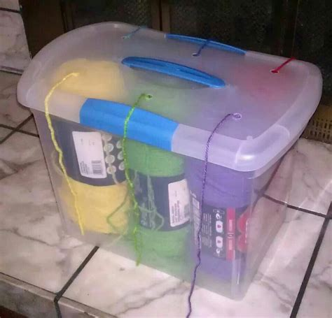 knitting storage containers stash it up 3 yarn storage mid project