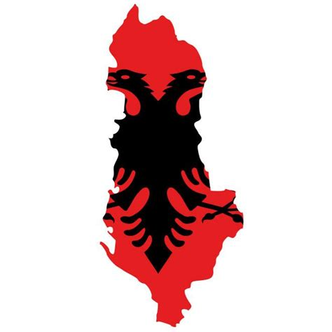 Albanian Flag Outline by Flag Map Of Albania At Vectorportal