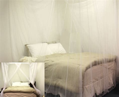 full size corner bed 4 corner post bed canopy white mosquito net full queen