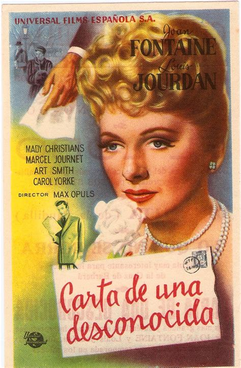 carta de una desconocida 1519615434 quot carta de una desconocida quot movie poster quot letter from an unknown woman quot movie poster