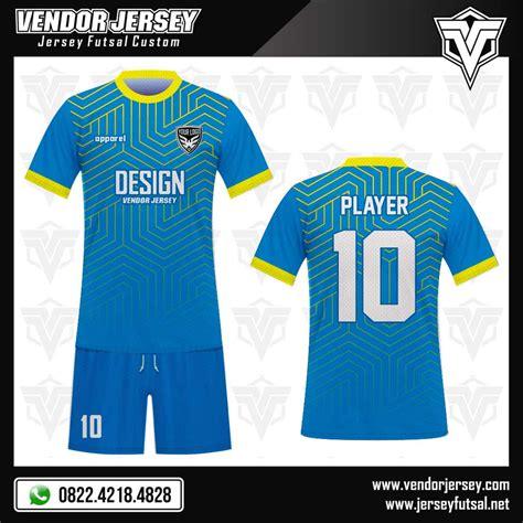 desain jersey warna biru desain seragam tim futsal skyline warna biru muda kuning