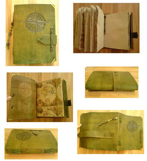 Handmade Leather Book - handmade leather book compass by alylovesu2 on deviantart