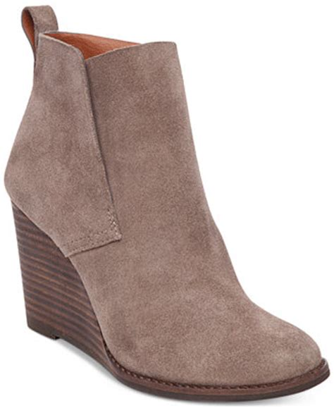 macy s lucky brand boots lucky brand s yameena wedge booties boots shoes