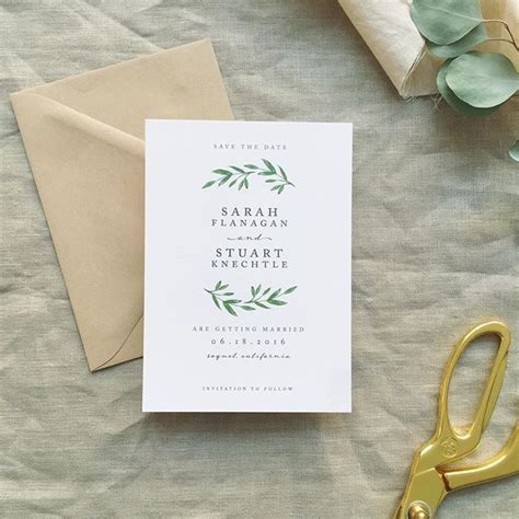 Simple Wedding Invitation Card by Simple Laurel Save The Date The Wedding Invitation