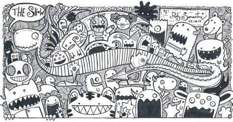 doodle yuli gambar doodle di tembok gambar c