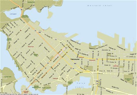 map of vancouver map of vancouver columbia map