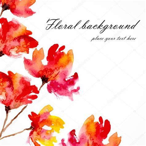 Type Of Cornice Red Flowers Poppies Floral Bouquet Floral Background