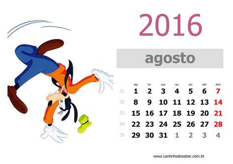 mes de agosto 2016 calendario 2016 m 234 s de agosto mickey e minnie pinterest