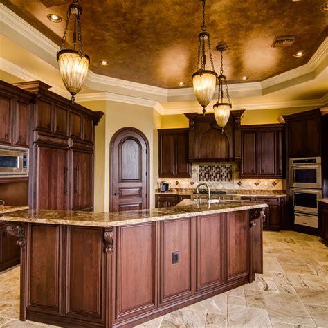 Kitchen Island With Columns rich kitchen finish