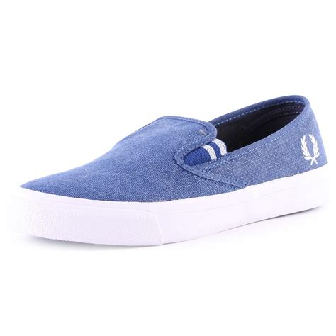 cobalt blue sneakers fred perry turner b7404 mens shoes in cobalt blue