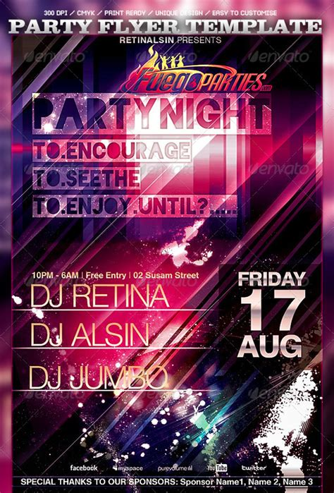 design party flyer online free 44 party flyer designs psd vector eps jpg download