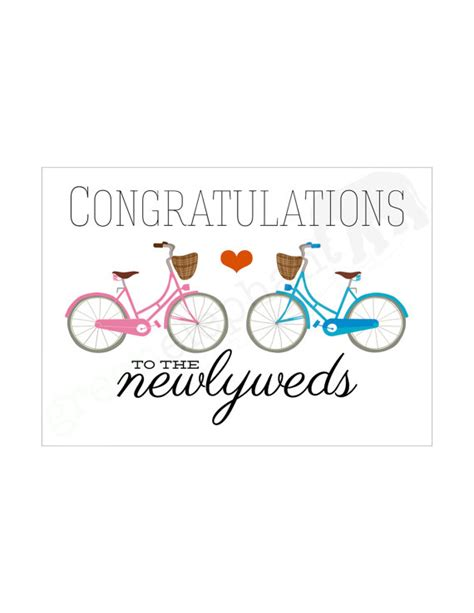 congratulations wedding newlywed items similar to printable wedding greeting card instant