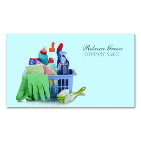 Cleaning Business Card Templates by Household Product Cleaning Service House Cleaners Business