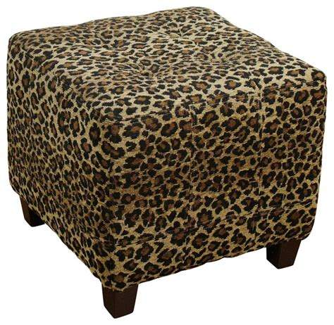 cheetah ottoman leopard ottoman transitional footstools and ottomans
