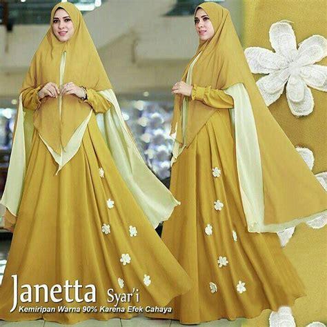 model baju gamis syari setelan pakaian muslimah