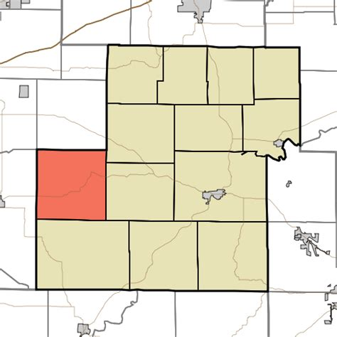 Marion County Search Indiana File Map Highlighting Marion Township Owen County Indiana Svg