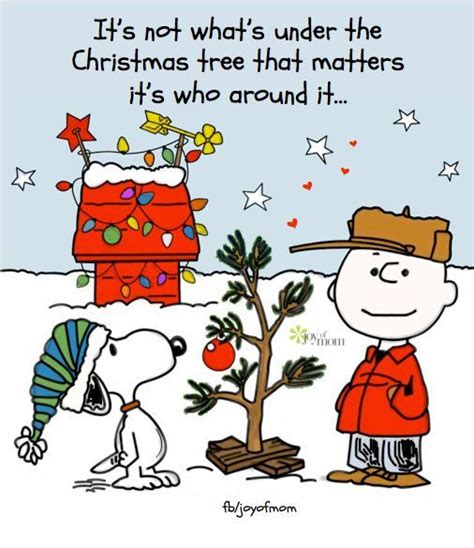 charlie brown christmas its not whats under the tree quote its not whats the tree that matters its who around it pictures photos and